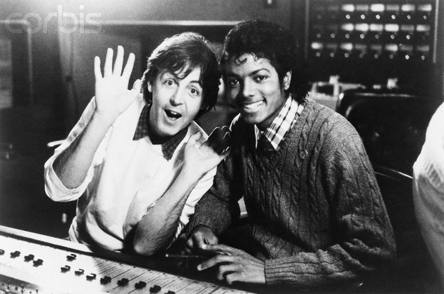Paul McCartney con Michael Jackson